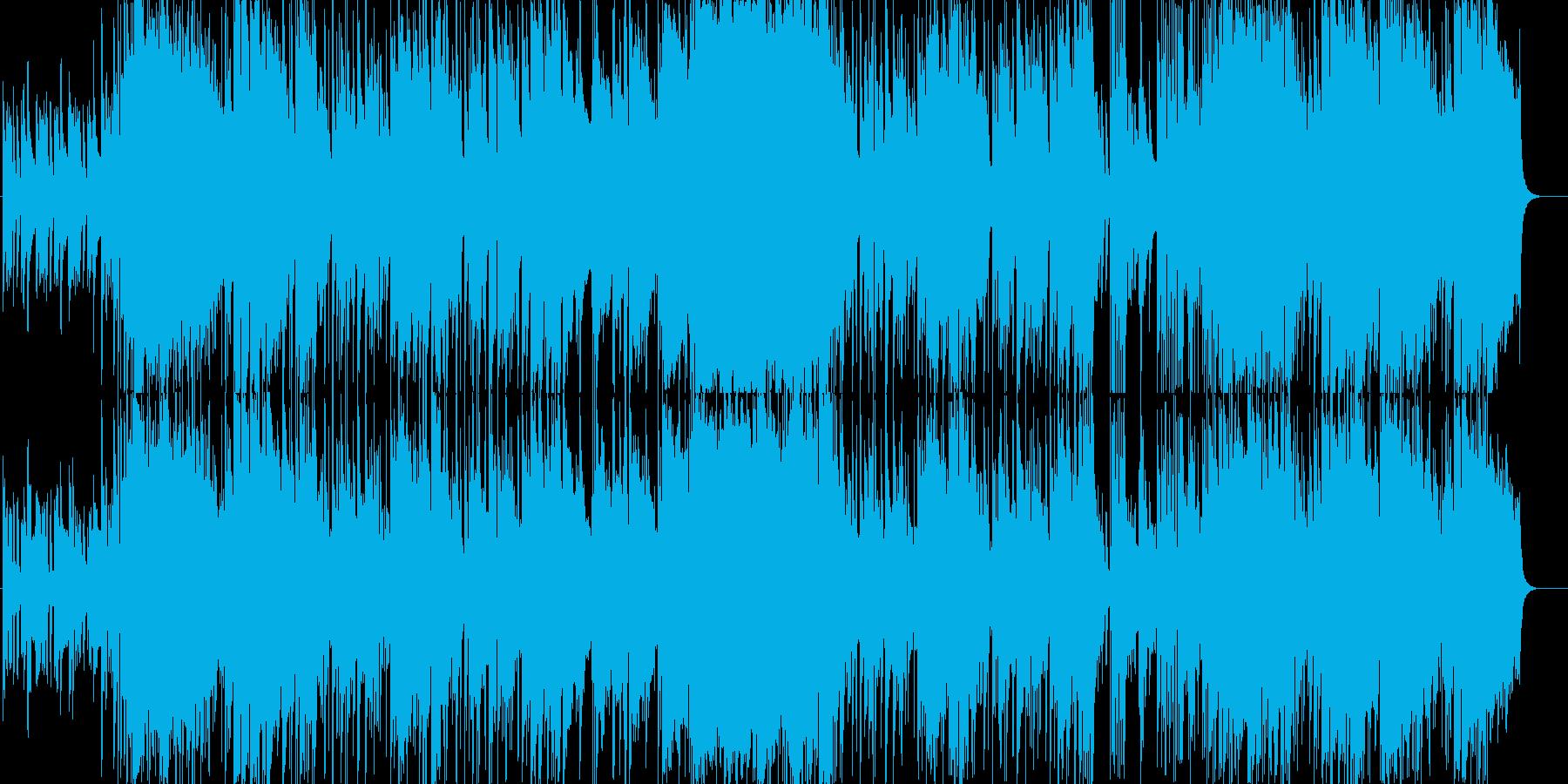 華やかで力強いメロディーの再生済みの波形