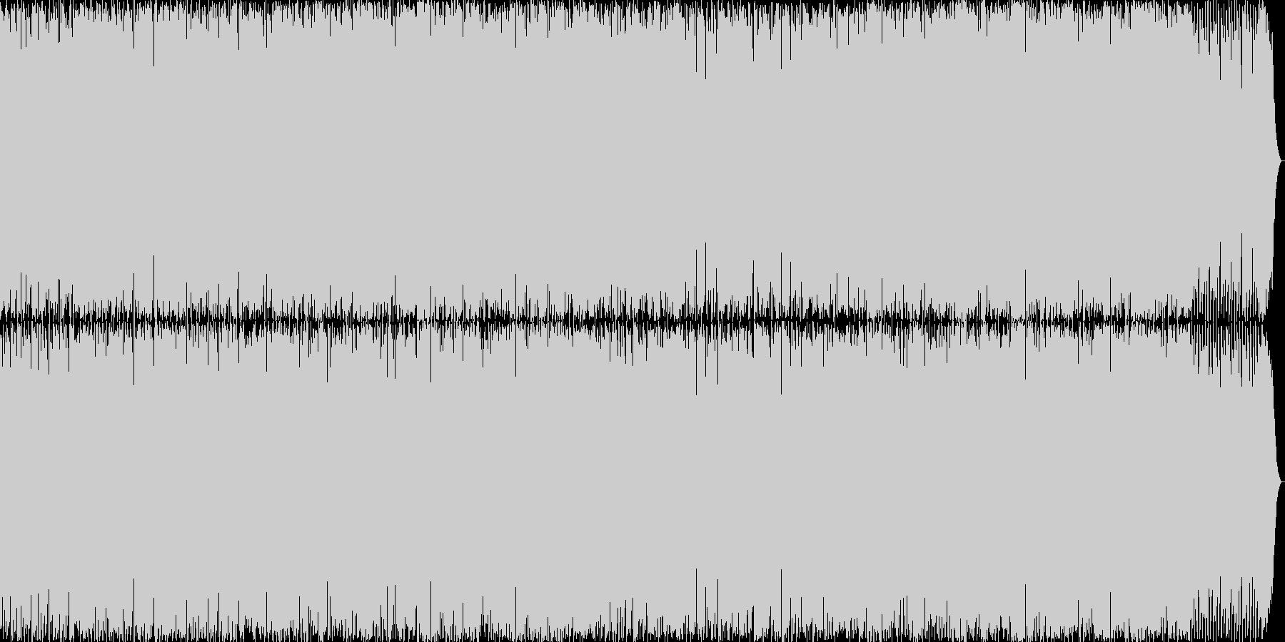 スポーツ描写にぴったりのアグレッシブな曲の未再生の波形