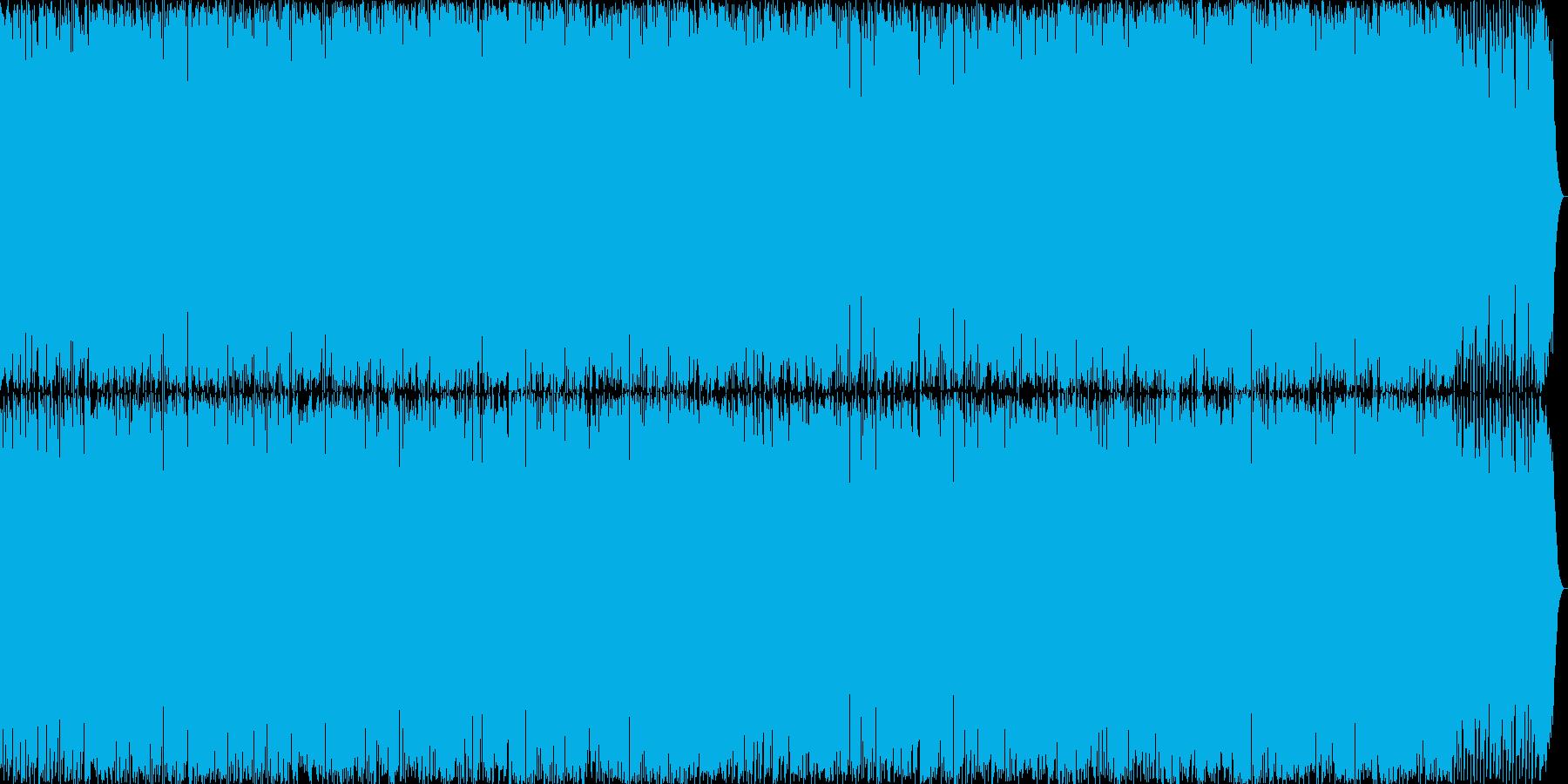 スポーツ描写にぴったりのアグレッシブな曲の再生済みの波形