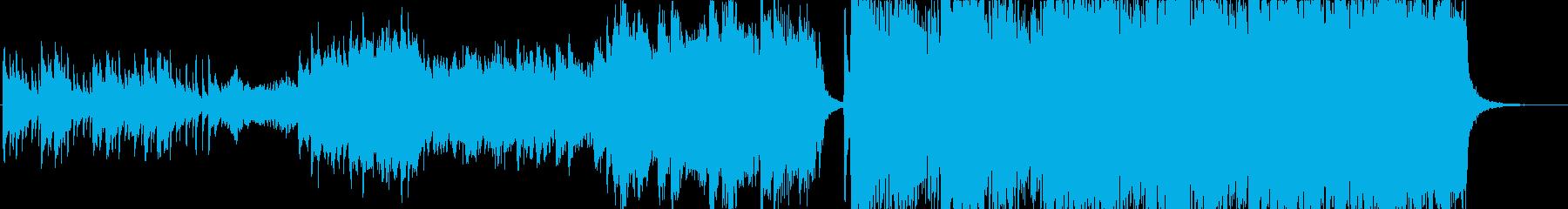 ハリウッド映画風壮大ピアノとストリングスの再生済みの波形