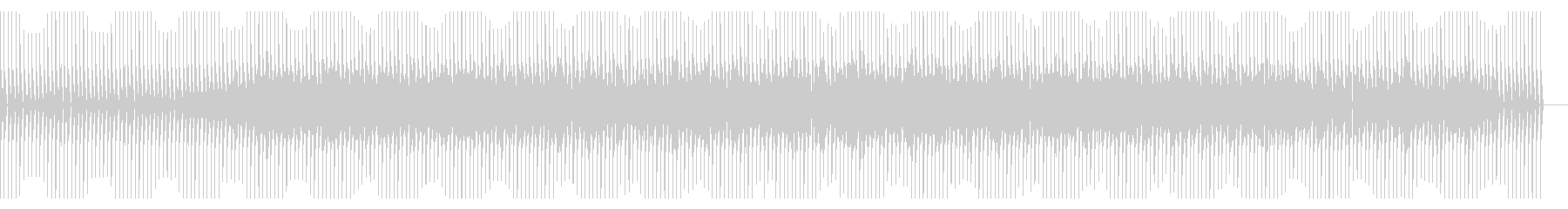 細切れでくぐもった音の4つ打テクノの未再生の波形