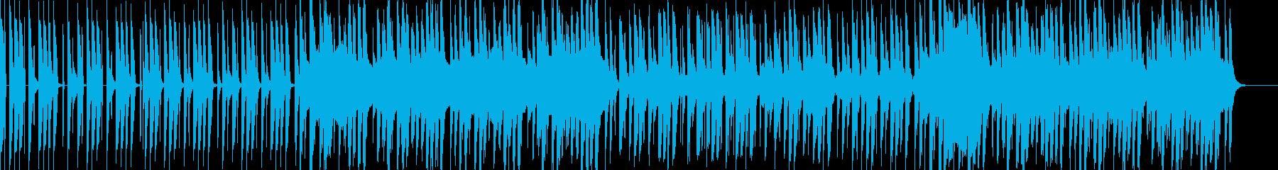 子供や動物の可愛い姿にフィットする音楽の再生済みの波形