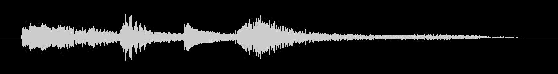 チャプター・場面転換等にピアノジングルJの未再生の波形