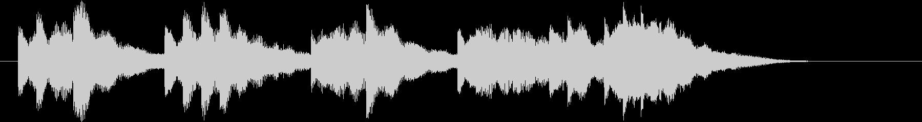発車メロディー風のジングルの未再生の波形