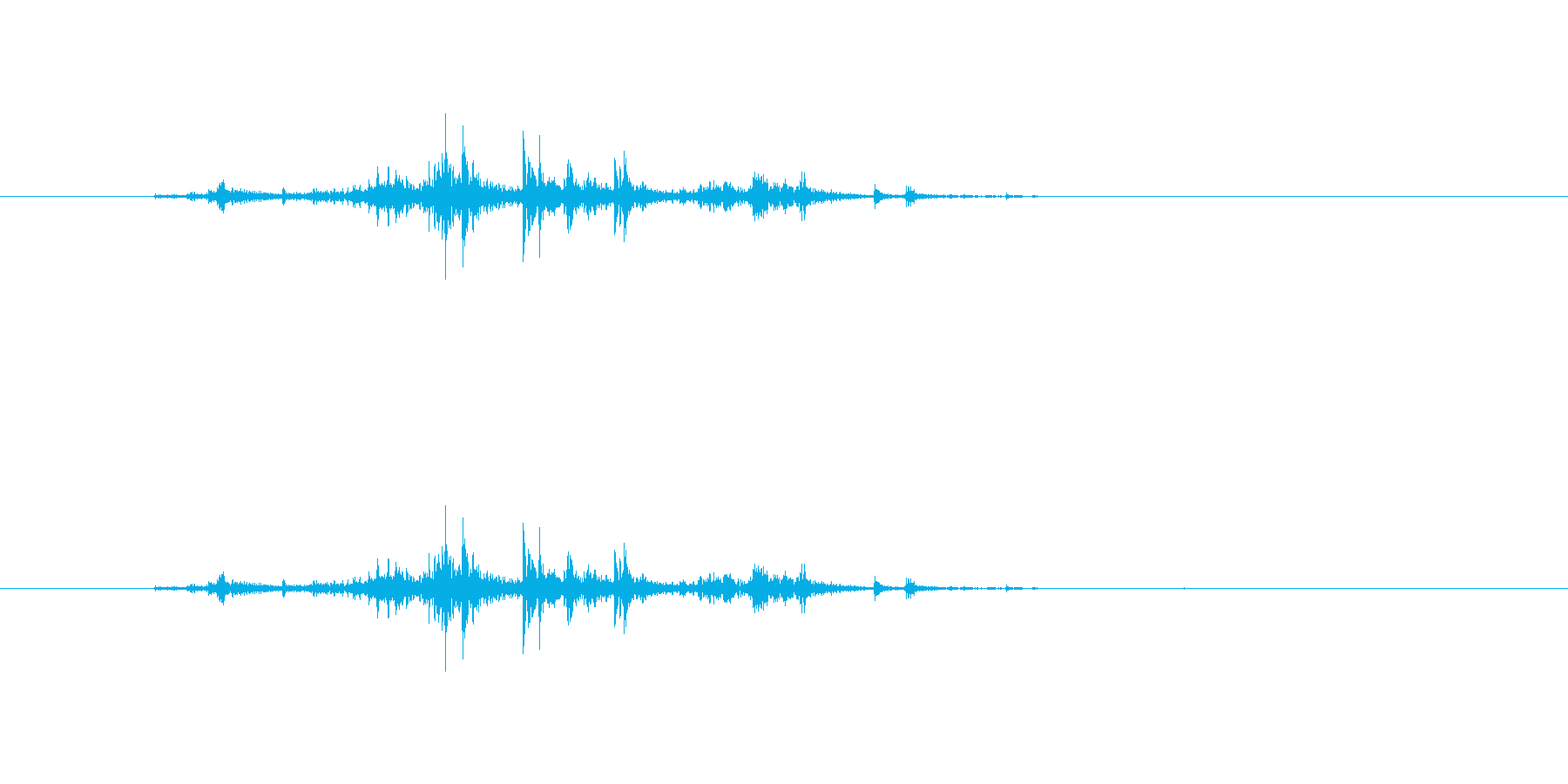【新聞01-1(めくる)】の再生済みの波形