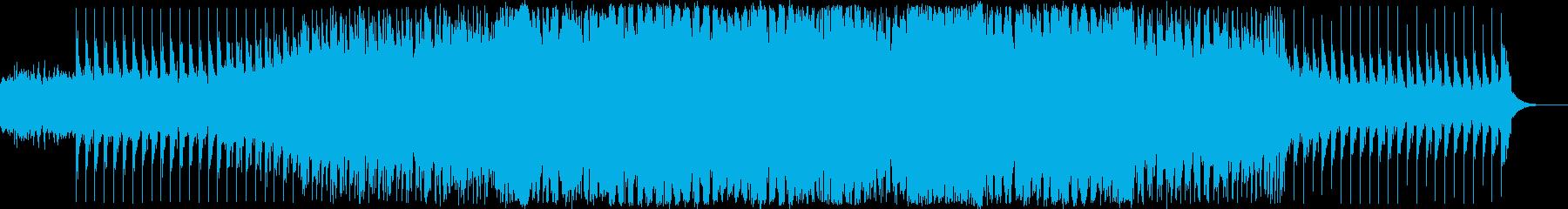 EDM系ダンスミュージックの再生済みの波形