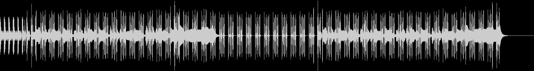 自然色の強いシンセ音にノリの良いリズムの未再生の波形