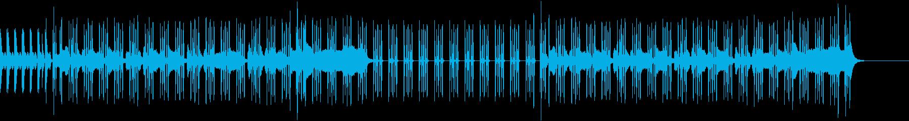 自然色の強いシンセ音にノリの良いリズムの再生済みの波形