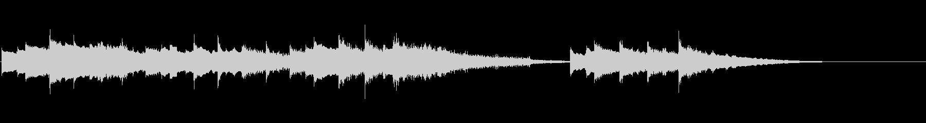 シンプルで可愛らしいハッピーバースデーの未再生の波形
