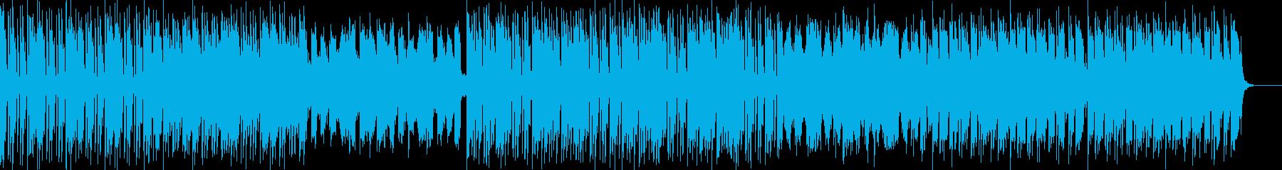 盛り上がるゲームのバトル曲の再生済みの波形