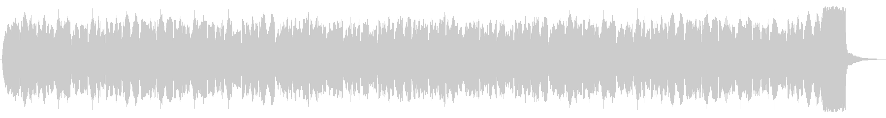 パイプオルガンの奏でる悲しい旋律の未再生の波形