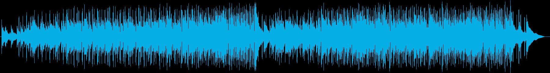 明るくムードあるミュージックの再生済みの波形
