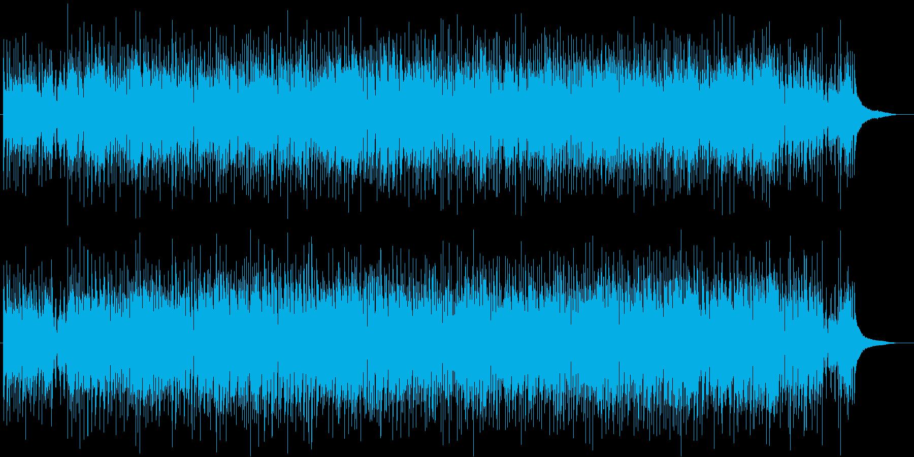 生演奏ギターのジャズボサノバ爽やか疾走感の再生済みの波形