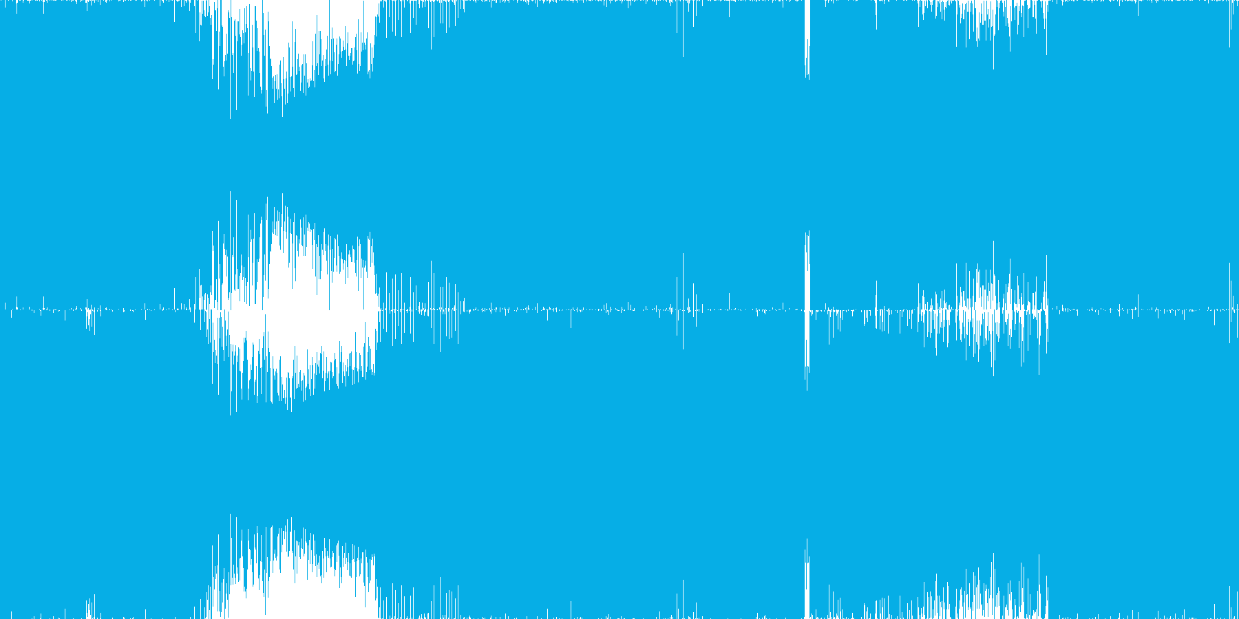 ☆ハイブリッド・トランス☆ループ◯素材の再生済みの波形