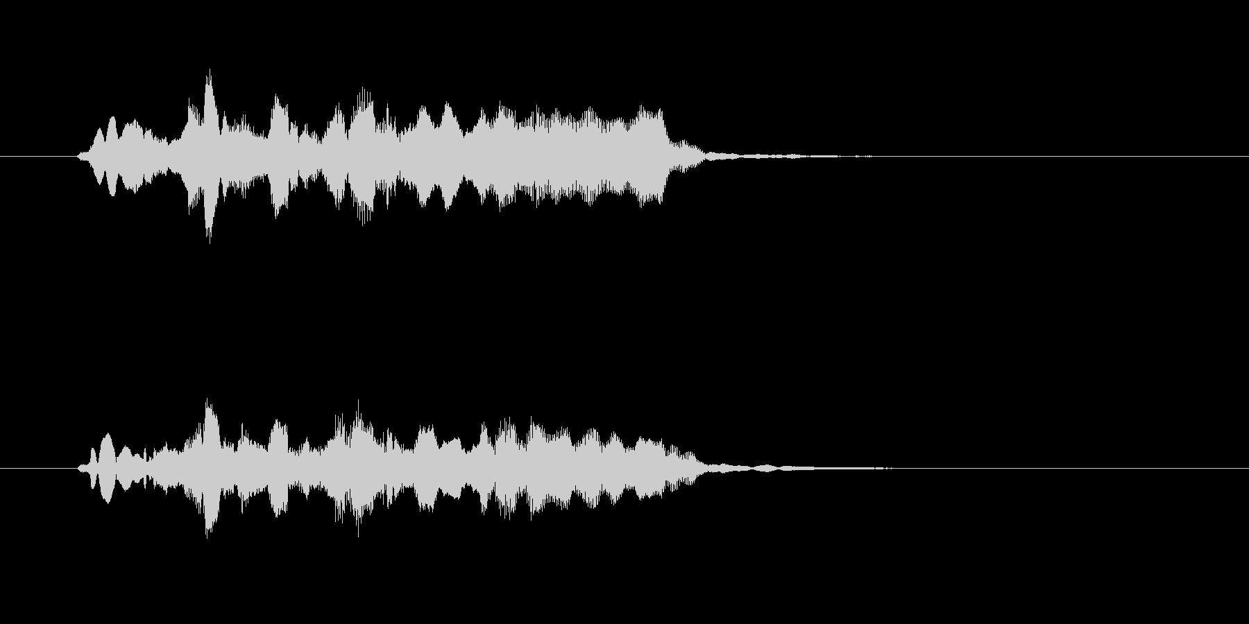 フルートとエレピの美しいジングルの未再生の波形