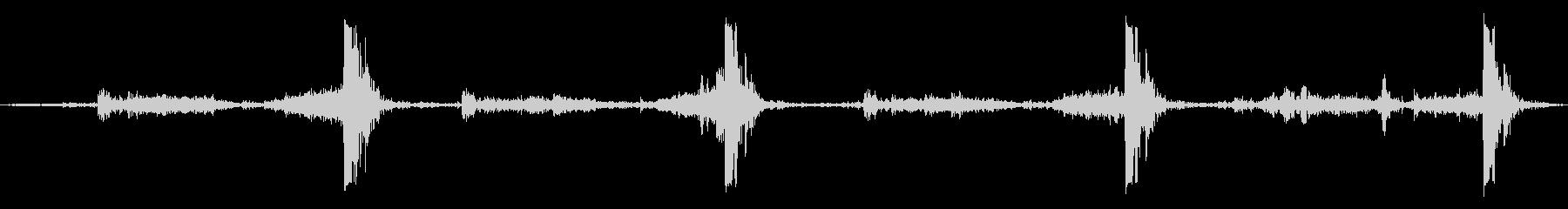 ふすまを閉める音(強めに)の未再生の波形