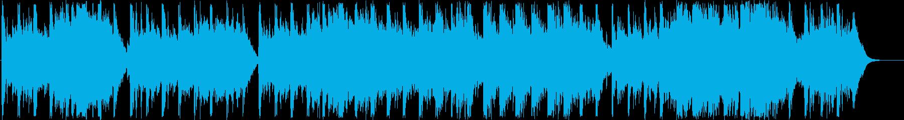 ファンタジーなシンセ・鈴など短めサウンドの再生済みの波形