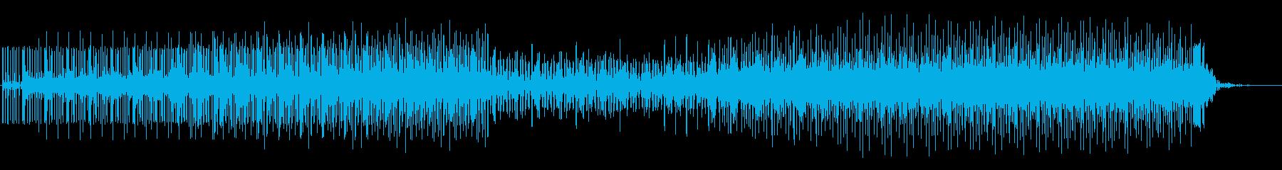 ドライブ感のあるフュージョン風ロックの再生済みの波形