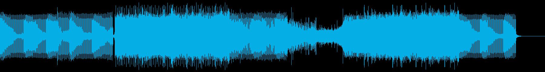 幻想的かつクールなテクノの再生済みの波形