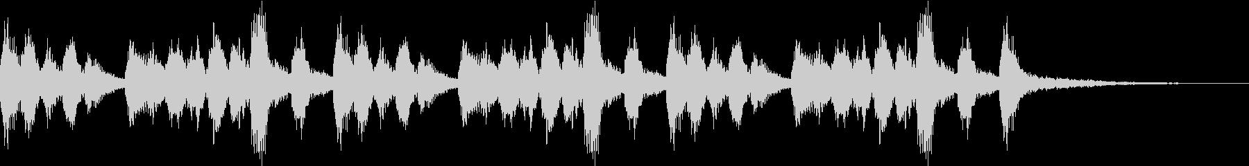 弦楽ピッツィカートとグロッケンのジングルの未再生の波形