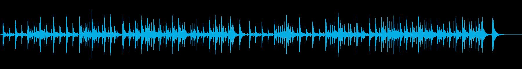 リラックスさせ眠りをいざなうオルゴール曲の再生済みの波形