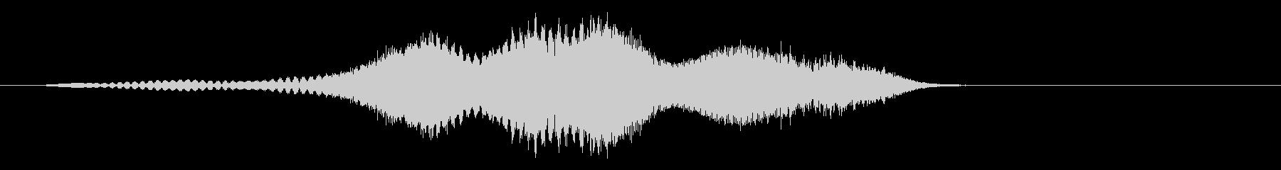 厳しいボーカル降順パスバイ-ダブルの未再生の波形