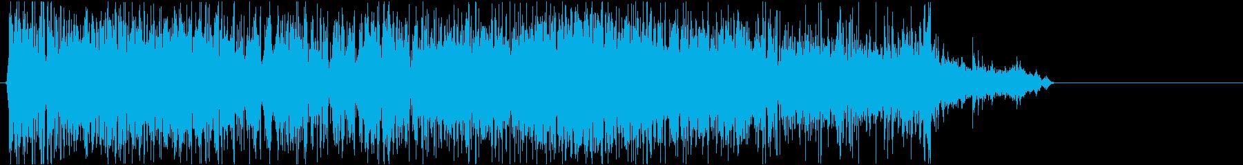 トイレの流す音の再生済みの波形