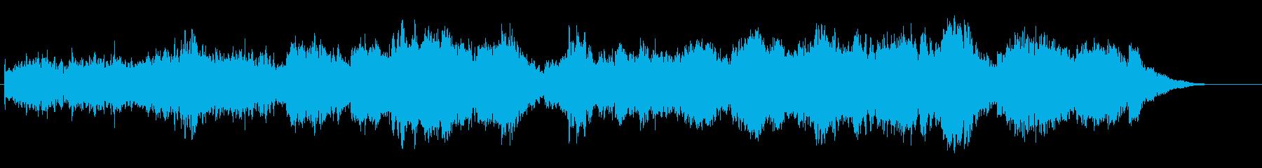 浮遊感覚のあるα波アンビエントBGMの再生済みの波形