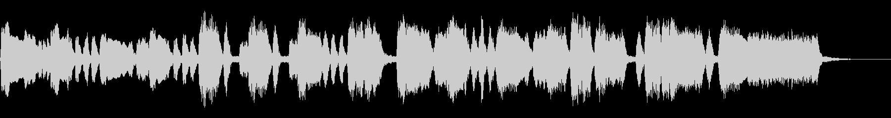 シンプルなオープニングファンファーレの未再生の波形
