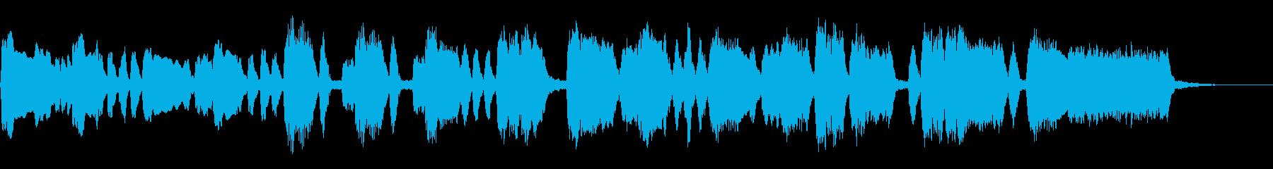シンプルなオープニングファンファーレの再生済みの波形