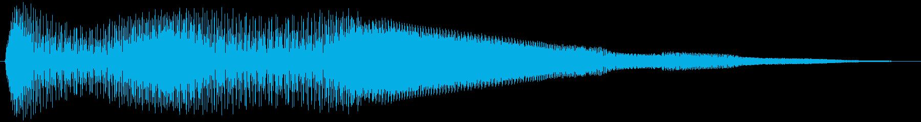 ボタン押下や決定音_キュキュイン!の再生済みの波形