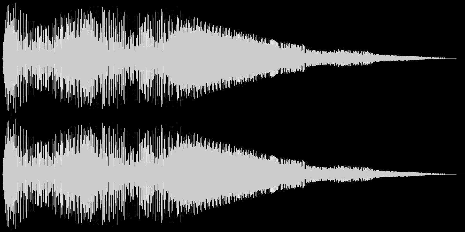 ボタン押下や決定音_キュキュイン!の未再生の波形