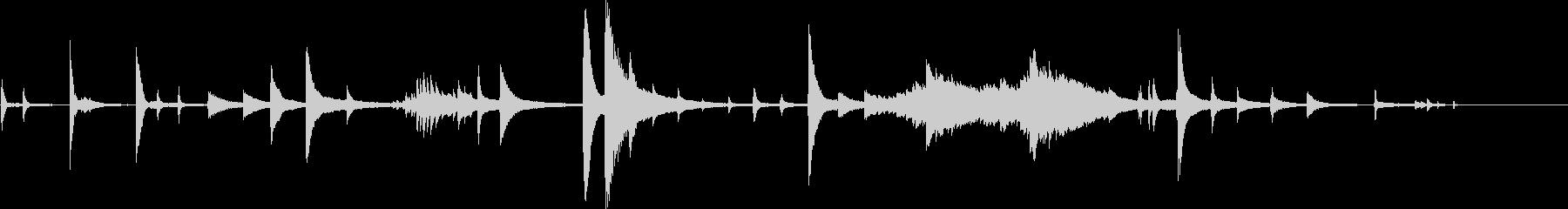 【生演奏】不協和音の不吉なピアノ演奏の未再生の波形