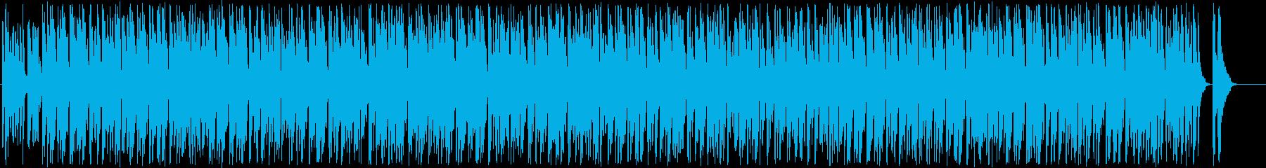 リズミカルで軽快な音楽の再生済みの波形