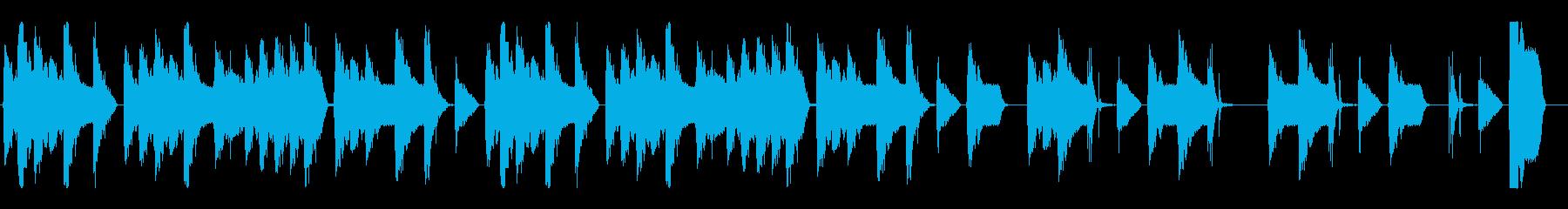 ダンスダブステップジングルの再生済みの波形