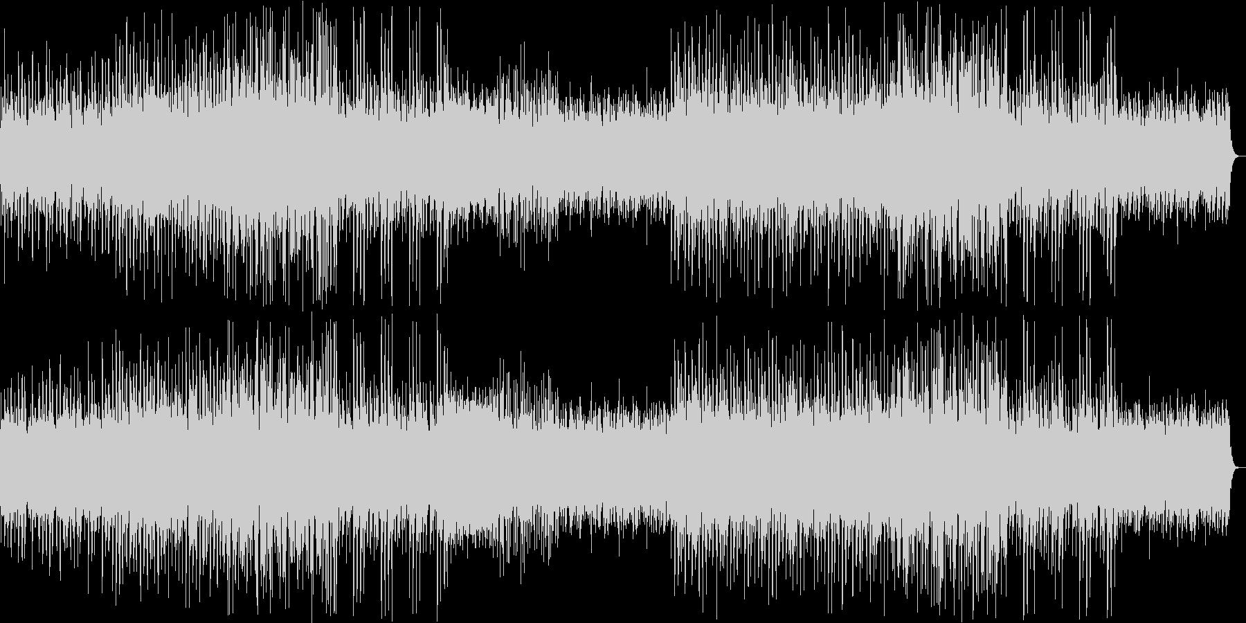 ウキウキしたシンセ・鉄琴などのサウンドの未再生の波形