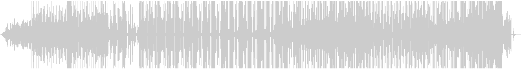 エフェクトを多用したレゲエ調のBGMの未再生の波形