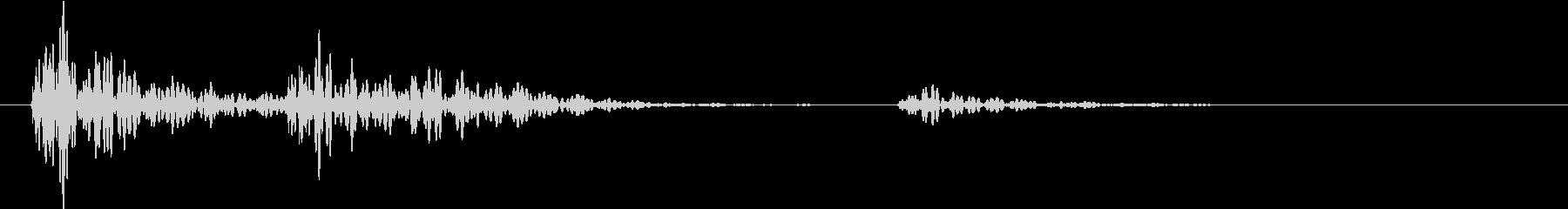 【生録音】お茶碗をテーブルに置く音 3の未再生の波形