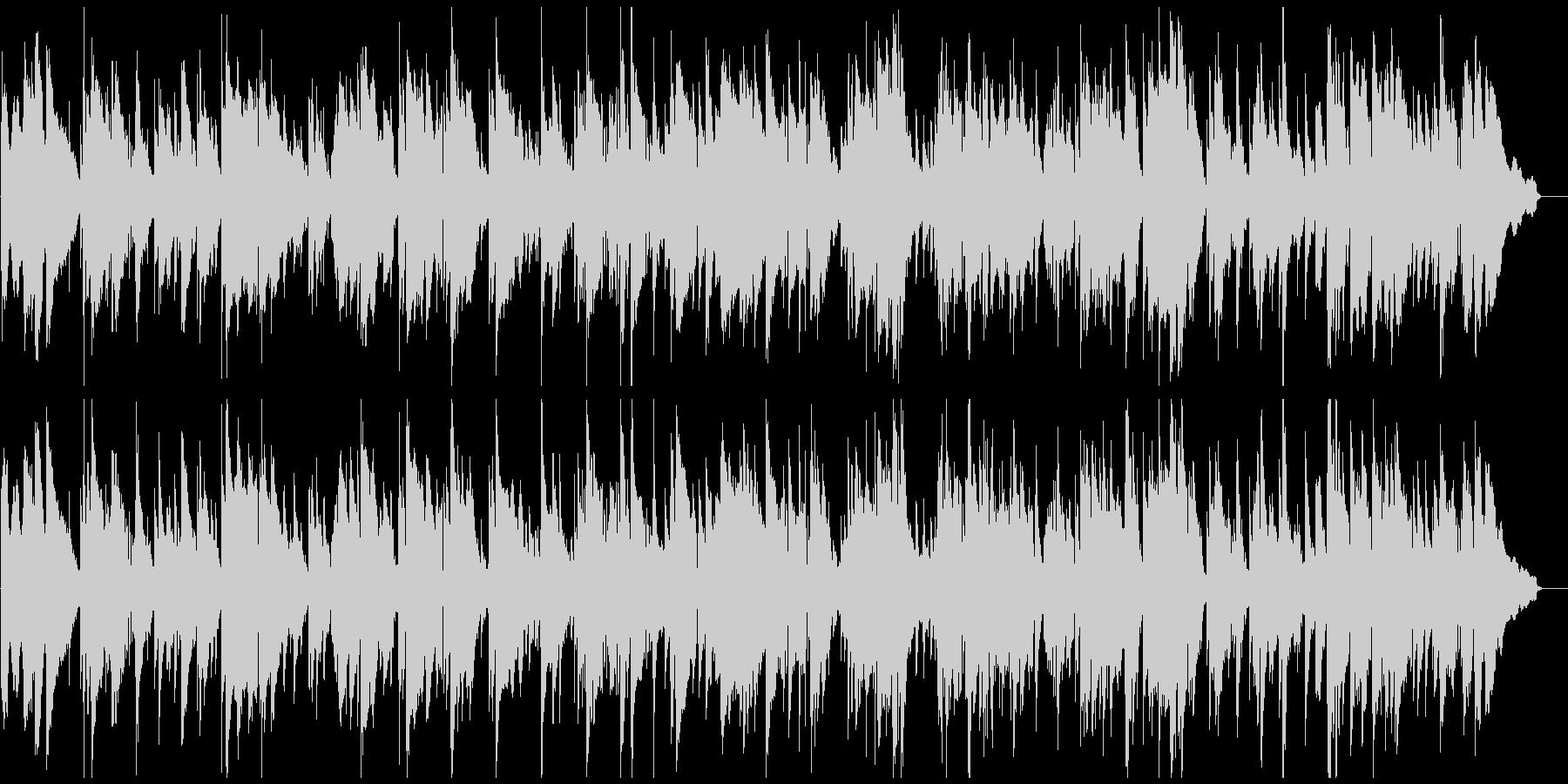 ロマンチックなサックスとピアノのバラードの未再生の波形