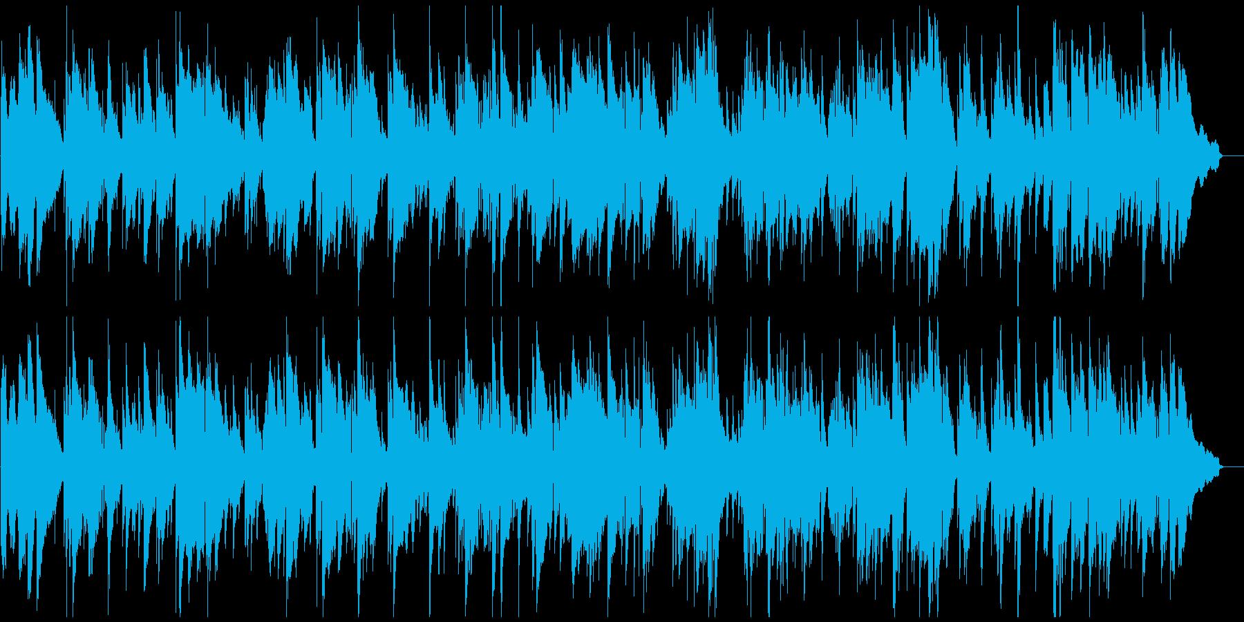 ロマンチックなサックスとピアノのバラードの再生済みの波形