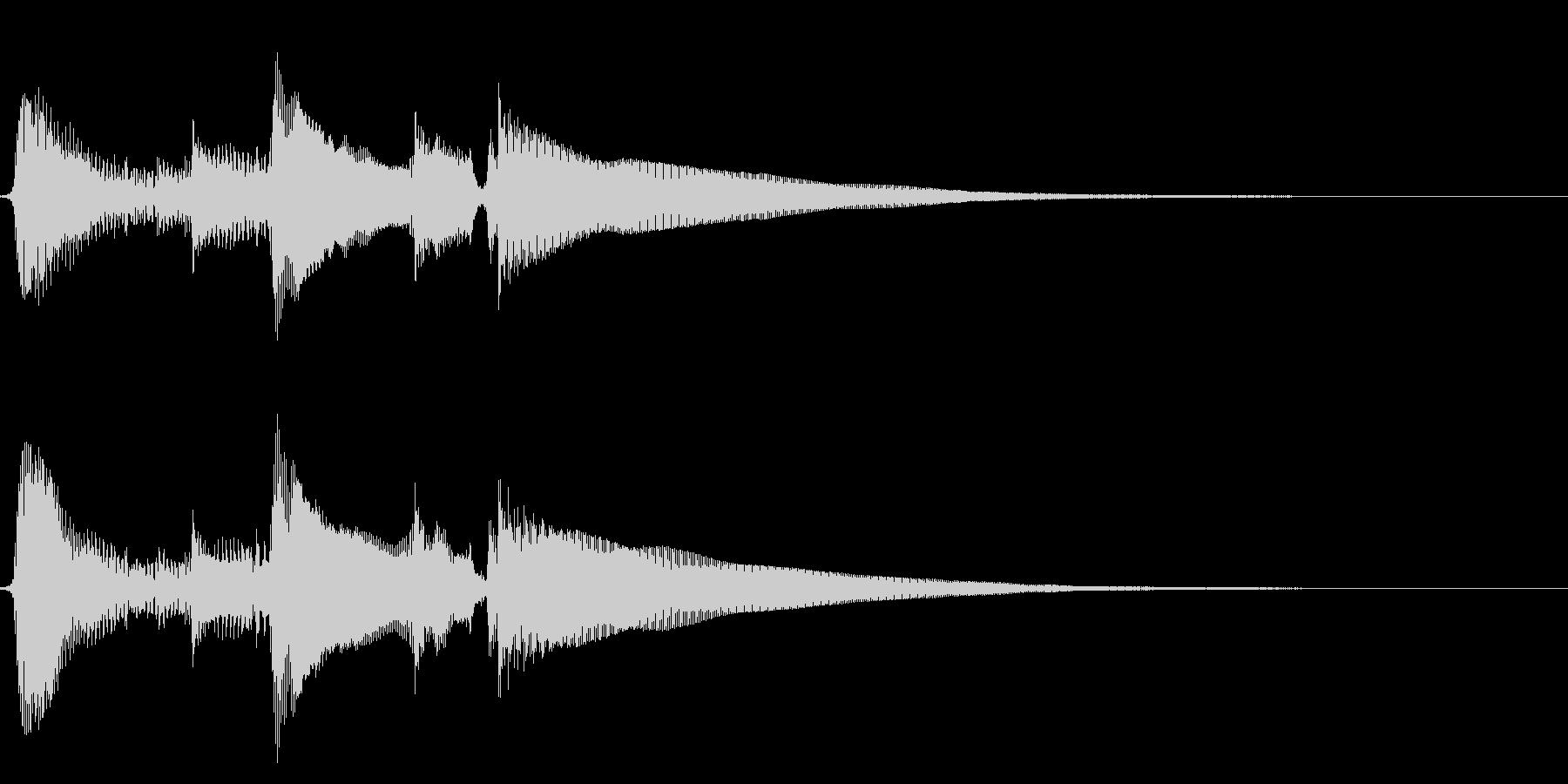 ★アコギ生音のジングル/切ないの未再生の波形