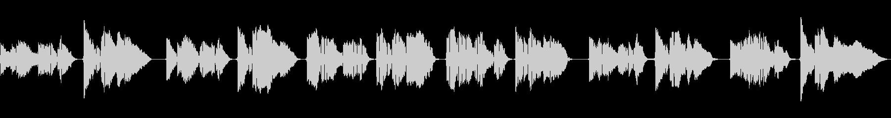 SAXのソロ演奏 抒情詩のようなメロの未再生の波形