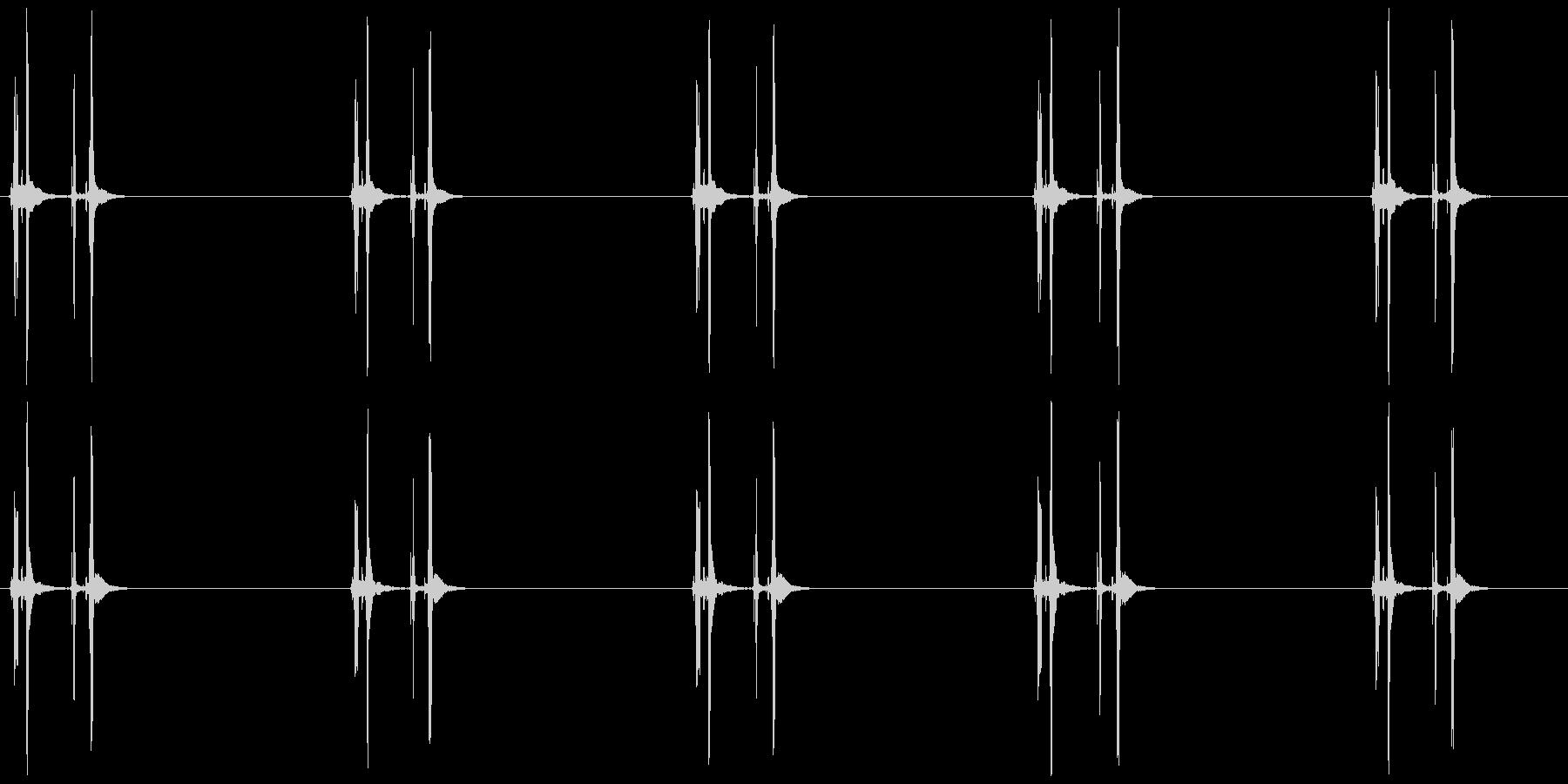 数取器 カタッ×5の未再生の波形