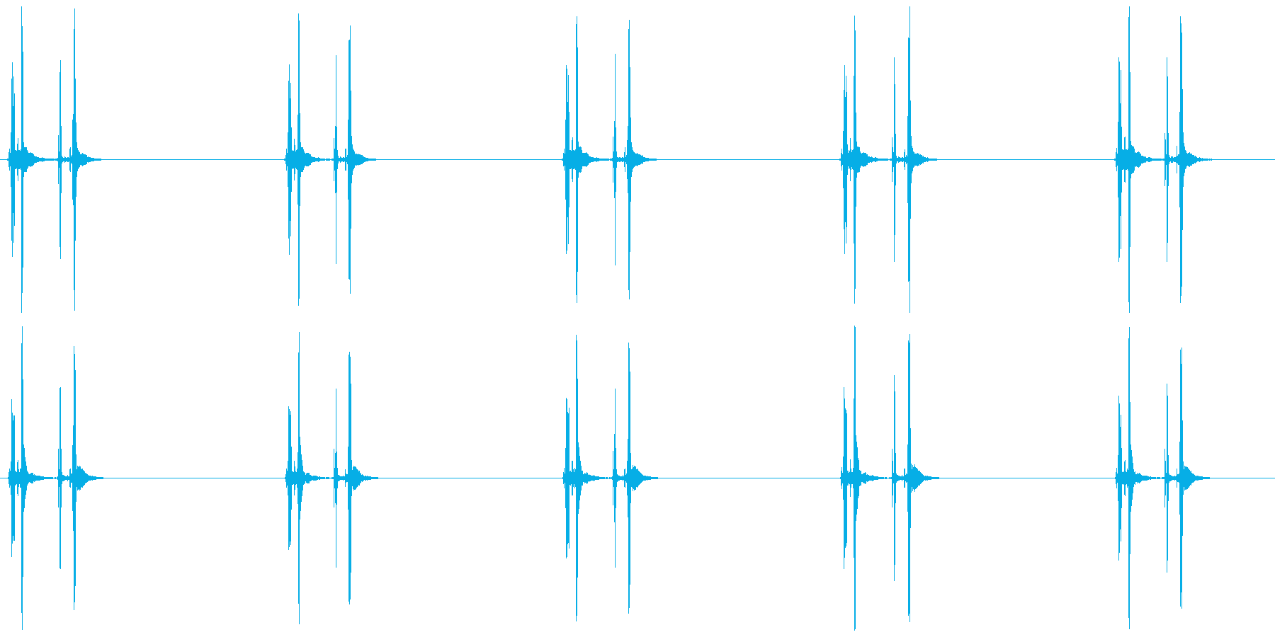 数取器 カタッ×5の再生済みの波形