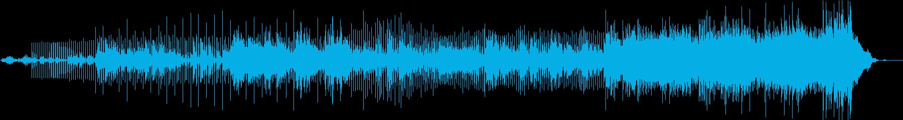 混沌とした、緊迫感あるビートサウンドの再生済みの波形