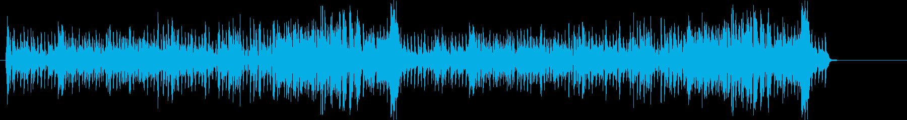 悪役に合いそうなジャジーな曲の再生済みの波形