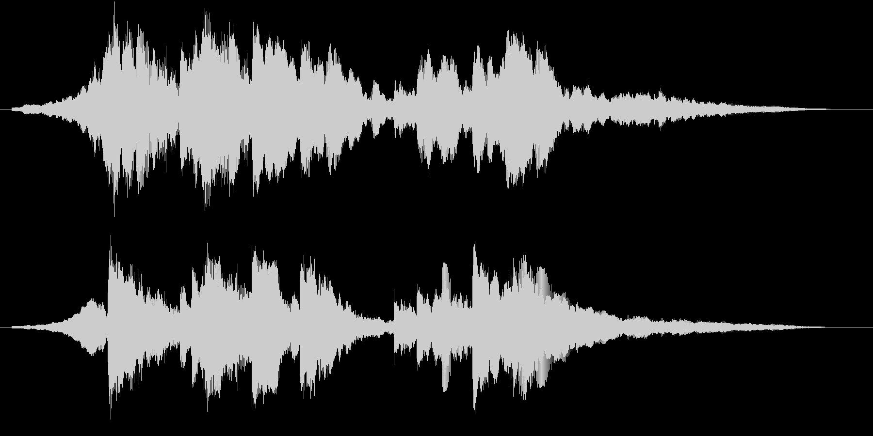 幻想的で美しく優しいピアノロゴの未再生の波形