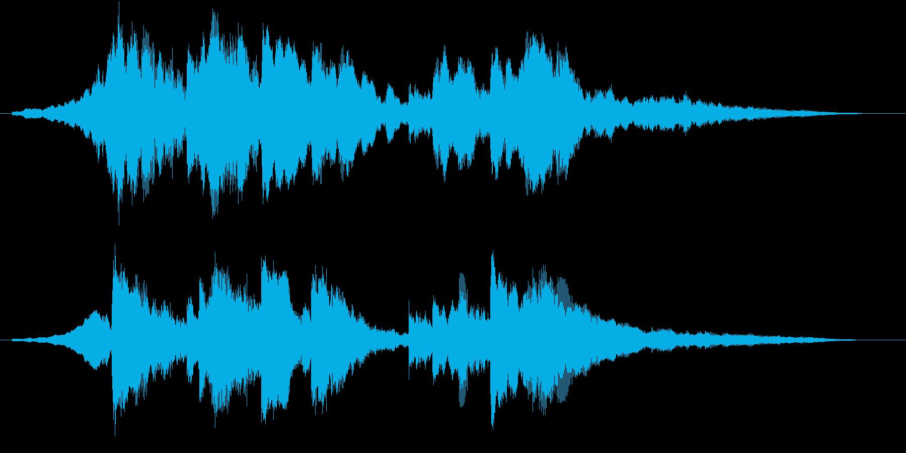 幻想的で美しく優しいピアノロゴの再生済みの波形