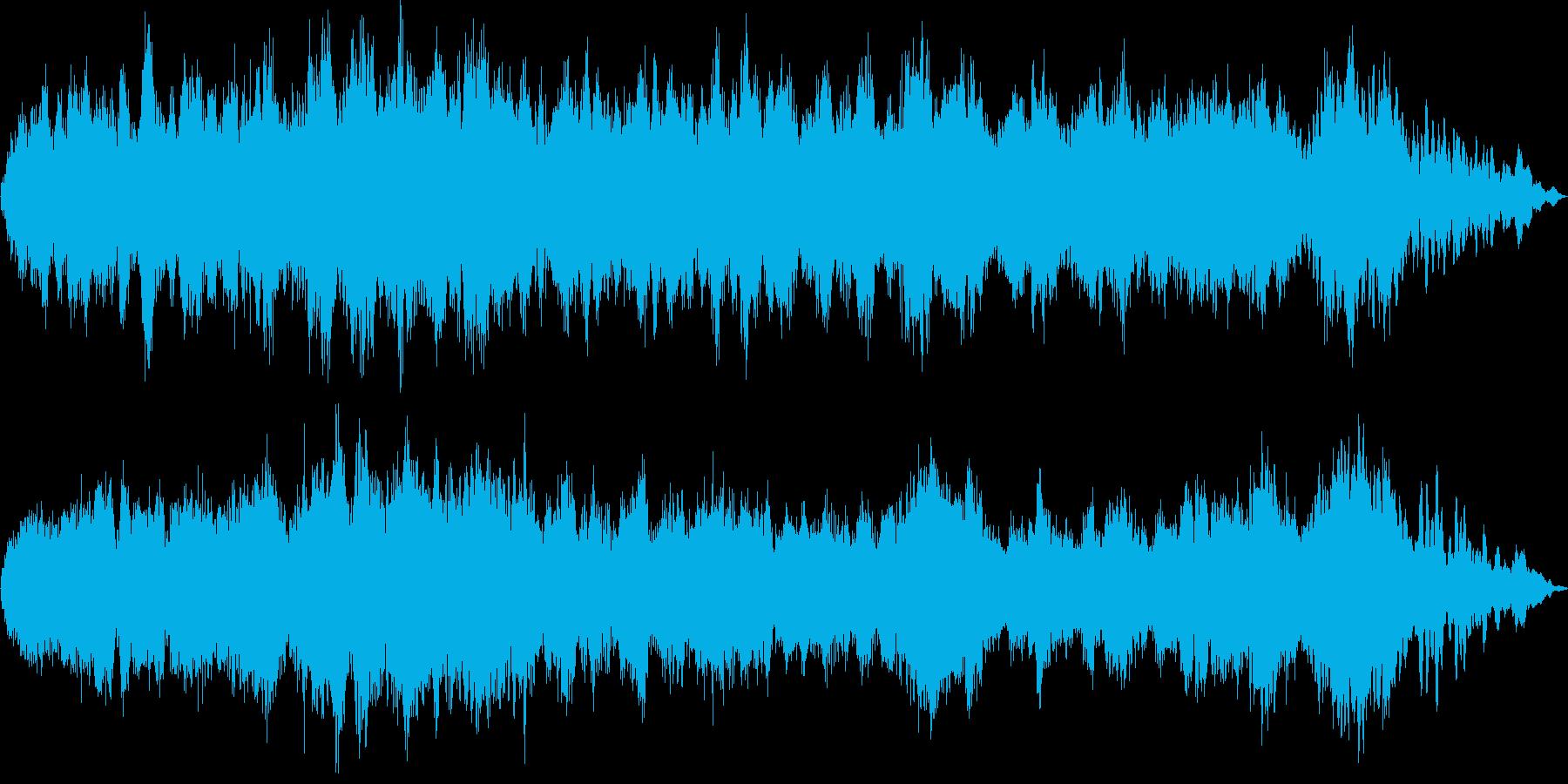 恐怖や不安に満ちた不気味なBGMの再生済みの波形