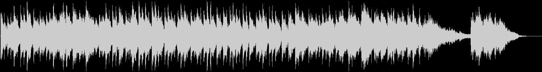 ピアノとシンセの広がりのあるアンビエントの未再生の波形